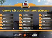 Đừng bỏ lỡ chung kết ROS Mobile Clan War 19h tối nay ngày 10/7