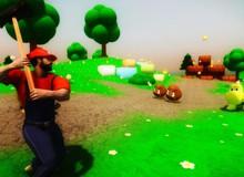 """Chết cười với màn chơi """"lầy lội"""" của Super Mario phiên bản 3D RPG"""