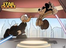"""Khi các nhân vật của nhà Chuột rủ nhau tới """"vũ trụ Star Wars"""" náo loạn"""