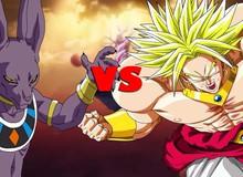 Dragon Ball Super: Siêu Saiyan huyền thoại Broly với Thần hủy diệt Beerus ai mạnh hơn?