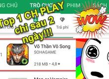 Võ Thần Vô Song đang quá HOT! Chiếm ngay Top 1 trên CH Play, Top 6 Apple Store chỉ sau 2 ngày ra mắt