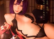 """Nữ thần Cosplay Trung Quốc Hane Ame """"hở bạo"""" với bộ ảnh """"yêu nữ"""" Shuten Douji"""