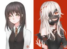 """Tokyo Ghoul sẽ còn """"đốt mắt"""" người hâm mộ hơn nữa nếu Kaneki Ken là một cô gái nóng bỏng"""