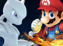 Mario hóa thân thành Goku quyết chiến với Mewtwo trong giải đấu quyền lực phiên bản Super Smash Bros