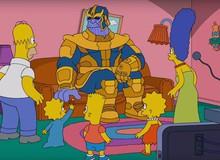 Không chỉ làm bay màu một nửa vũ trụ, Thanos còn khiến gia đình siêu lầy Simpson tan biến