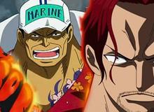 """One Piece: Mặc dù không sử dụng trái ác quỷ, Tứ Hoàng Shanks vẫn đủ mạnh để """"cân kèo"""" với một Đô Đốc Hải Quân?"""