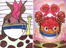 Ngắm loạt tranh đẹp ngỡ ngàng được lấy ý tưởng từ nét vẽ nguệch ngoạc của trẻ con