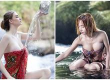 """Điểm danh những """"gái xinh"""" tắm suối nóng bỏng bậc nhất khiến dân mạng thổn thức"""