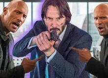 """Nếu """"đụng độ"""" nhau trong một cuộc chiến, thì 2 quái xế Hobbs & Shaw có thể đánh bại được John Wick không?"""
