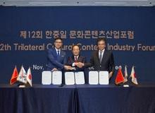 Đại diện hiệp hội eSports của Trung, Hàn, Nhật ký kết biên bản cùng nhau phát triển thể thao điện tử