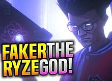(Video Vietsub) Faker cầm Ryze gánh team, vẫn dùng skin mặc định dù được fan van nài chọn trang phục Ryze SKT T1