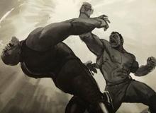 """Bản vẽ concept cho thấy cảnh Hulk """"đấm tòe mỏ"""" Thanos tại Wakanda, đáng tiếc là ta không được xem nó trên màn ảnh"""