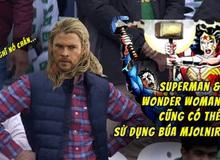 Ngạc nhiên chưa: Ngoài Captain America ra, Superman và Wonder Woman cũng có thể sử dụng búa Thor ngon lành