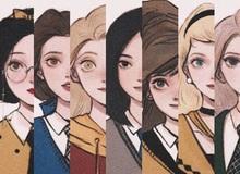 """Lạ lẫm khi thấy dàn công chúa Disney """"du học"""" đến trường Hogwarts trong Harry Potter"""