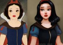 """Dàn mỹ nhân của Disney bất ngờ """"lột xác"""" khi được vẽ theo phong cách siêu thực"""