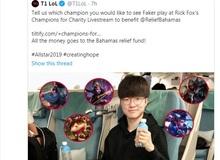 Không chỉ sang Mỹ dự Allstars, Faker còn tham gia stream gây quỹ từ thiện của cựu chủ tịch Rick Fox