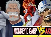 """One Piece: Monkey D.Garp sẽ có một cuộc chiến """"long trời lở đất"""" với Đô Đốc Akainu. Ai là người chiến thắng?"""