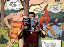 Một phút bất cẩn, siêu anh hùng Shazam đã bị trộm đồ khi... đang tắm sông