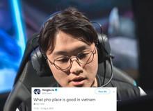LMHT: Chưa đánh trận chung kết, CoreJJ đã nhờ fan tư vấn 'quán Phở nào ngon nhất Việt Nam?'