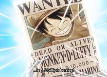 One Piece: Sự phát triển mức truy nã của Luffy Mũ Rơm từ năm 1997 đến 2019