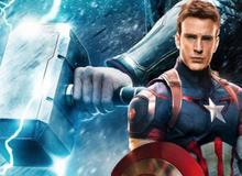 """Avengers: Endgame - 3 lần Captain America đã nâng được Mjolnir trở thành """"Thần Sấm Mỹ"""""""