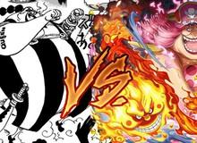 """One Piece 946: Tứ Hoàng Big Mom thể hiện sức mạnh kinh hoàng - Một đấm """"lún đầu quyền"""" Queen Đại Dịch"""