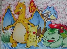 Fan Pokemon mà nhìn thấy bức tranh này chắc chắn thích mê, ăn gì mà vẽ đẹp kinh!