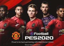 PES 2020 mua thành công bản quyền hình ảnh của Manchester United
