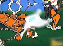 """Chết cười Naruto phiên bản """"Tom và Jerry"""", Cửu Vĩ ăn đòn đến ngất xỉu rồi bị phong ấn"""