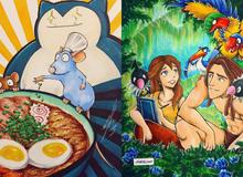 Ngắm loạt tranh đáng yêu của các loài Pokemon khi gia nhập đại gia đình Disney
