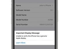 """iPhone 11 sẽ cảnh báo người dùng khi máy bị thay màn hình """"lô"""""""
