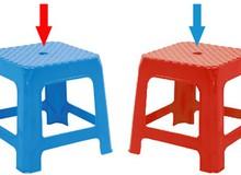 Có thể bạn chưa biết: Lỗ tròn trên mặt ghế nhựa có tác dụng gì?