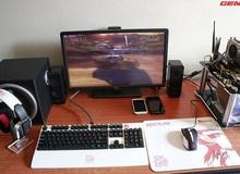"""Cận cảnh bộ Gaming Gear trắng của một game thủ """"cứng"""" ở Hà Thành"""