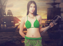 Siêu mẫu Hà Phương nóng bỏng trong bộ cosplay Khan Online