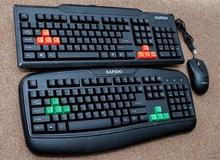 Trên tay bộ 3 bàn phím, chuột vi tính chơi game Sapido của Việt Nam