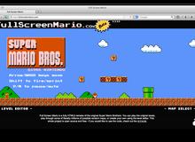 Chơi Super Mario ngay trên trình duyệt Web
