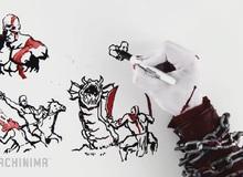 Cuộc đời chiến thần Kratos qua tranh vẽ