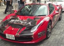 Siêu xe Attack on Titan Ferrari gây sốt tại Nhật