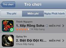Vì sao Xếp Rồng Soha trở thành quán quân trên Apple Store sau 24h ra mắt?