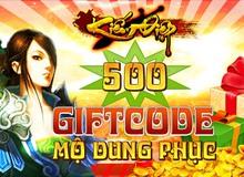 GameK gửi tặng 500 Gift Code Kiếm Điệp
