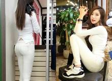 Cô gái Hàn nổi tiếng vì mặt xinh, chân dài