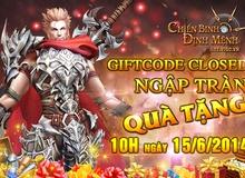 GameK gửi tặng 500 Gift Code Chiến Binh Định Mệnh