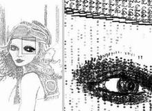 Nghệ thuật vẽ tranh từ... máy đánh chữ
