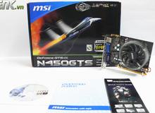 Đánh giá MSI GTS 450 GDDR3: Thách thức ngôi vua VGA không nguồn phụ