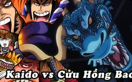 """One Piece 992: Những hình ảnh mới nhất về trận chiến giữa Cửu Hồng Bao và Kaido, """"9 đánh 1 không chột cũng què"""""""