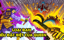 """One Piece: Món vũ khí đáng sợ khiến X Drake cũng phải xanh mặt của Queen đã được """"kích hoạt"""""""