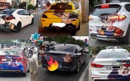 Xuất hiện hàng loạt ôtô dán decal Dragon Ball bon bon trên khắp tuyến phố Việt Nam