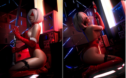 Cô nàng nóng bỏng 2B trong Nier: Automata lại thiêu đốt người hâm mộ qua loạt ảnh giáng sinh