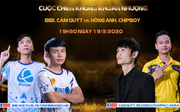 """BiBi khẳng định: Đây sẽ là một trận đấu hấp dẫn khi quy tụ 3 """"tay chém khét tiếng"""" nhất của AoE Việt Nam!"""