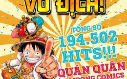 Vượt qua Conan, Doraemon và Naruto, One Piece giành ngôi vị quán quân trong cuộc thi do Kim Đồng tổ chức